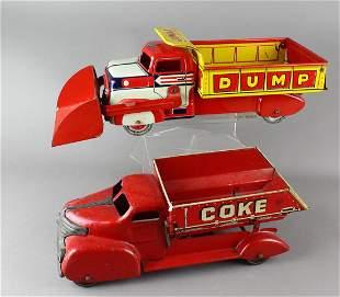 Marx Pressed Steel Coal/Coke & Lumar Dump Truck