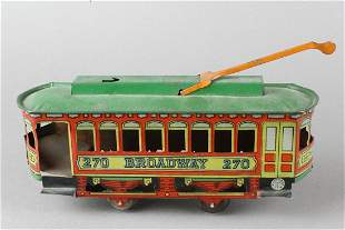 J. Chein  Tin Broadway Trolley