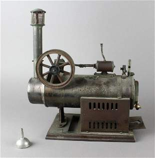 Schoener Steam Engine Horizontal Early German