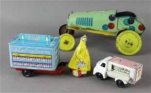 British Tin Trucks & Unique Art Tin Krazy Kar