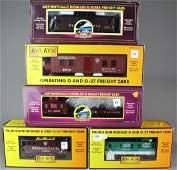 5 MTH Rail King Cars In Box