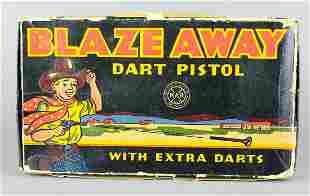 Marx Blaze Away Pistol & Dart Set in Box