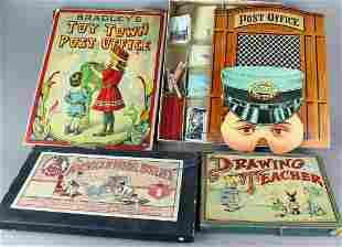 1890s Bradley Toy Town Games & American Model Builder