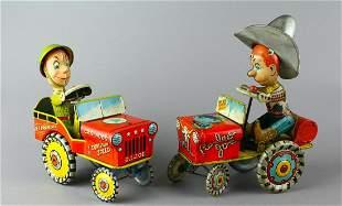 Unique Art Tin Rodeo Joe & G. I. Joe Wind Ups
