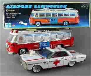 Japan Tin Ford Ambulance & Mint Airport Limousine