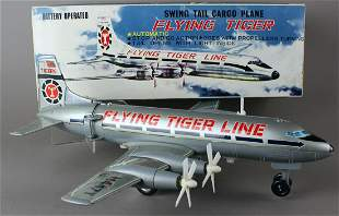 Marx Nomura Japan Flying Tiger 4 Prop Airplane in Box