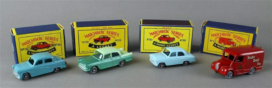 Matchbox Moko Lesney Grey Wheel Cars in Box