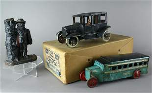 Toy Lot Captain Kidd Bank Chein Bus Ford Tin