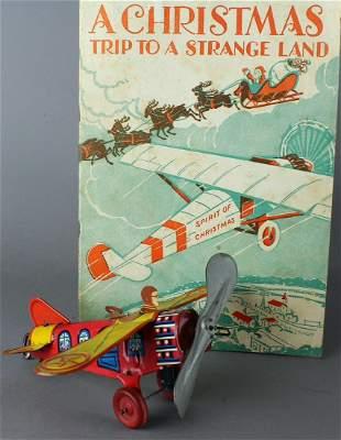 1920s Marx Monoplane & Spirit of Christmas Lindbergh