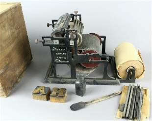 Automatic Rotary Printer Miniature Press in Crate