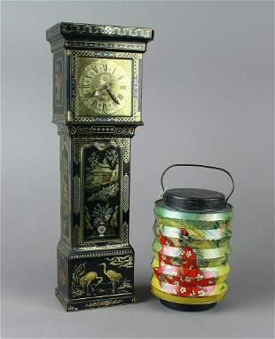 Chinese Lantern & Tall Case Clock Biscuit Tins