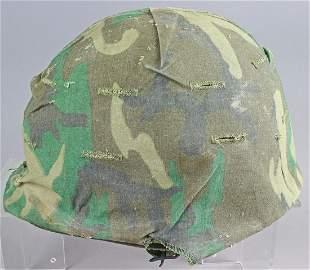 WWII Marine Camo Field Helmet w Liner