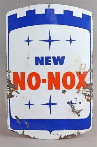 Gulf New No Nox Porcelain Sign Original 1940s