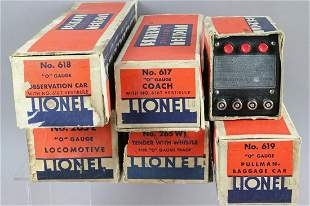 Lionel 1936 Blue Streak Set Boxes w Transformer