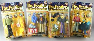 4 Beatles Yellow Submarine Figures Mint In Package