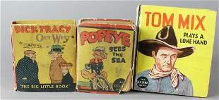Tom Mix, Popeye, Dick Tracy Big Little Books