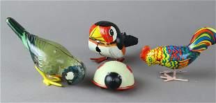 German Tin Wind up Birds