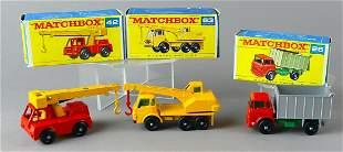 Boxed Matchbox Construction Trucks