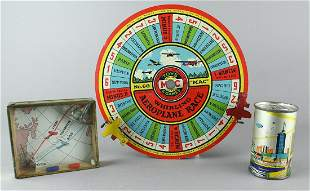 Airplane Tin Race Toys
