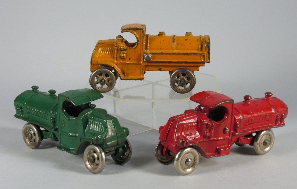 3 Hubley and Champion Mack Tanker Trucks