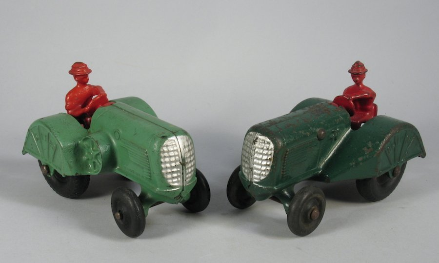 1920s Pair of Cast Iron Oliver Tractors