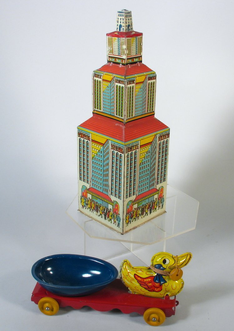 Marx Tin Empire State Building & Wyandotte Duck Ca