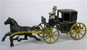 Wilkins Cast Iron Hansom Cab Horse  Carriage