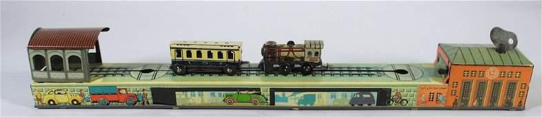 Arnold German Tin Railroad Train  Station