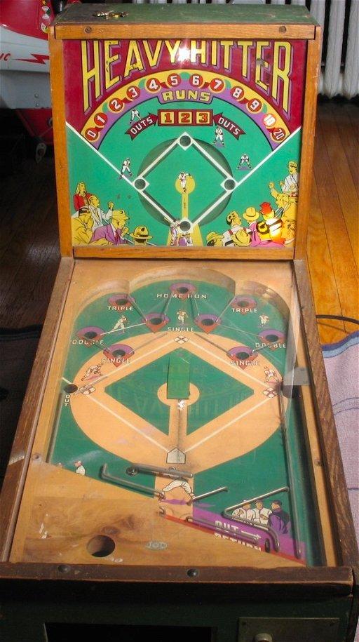 1930s Heavy Hitter Baseball Pinball Machine