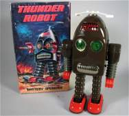 Thunder Robot Tin Toy in Box Working Toy