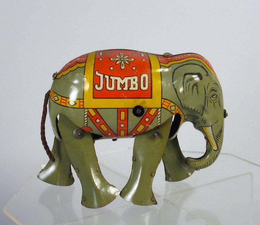 Jumbo The Elephant Tin Toy Wind Up