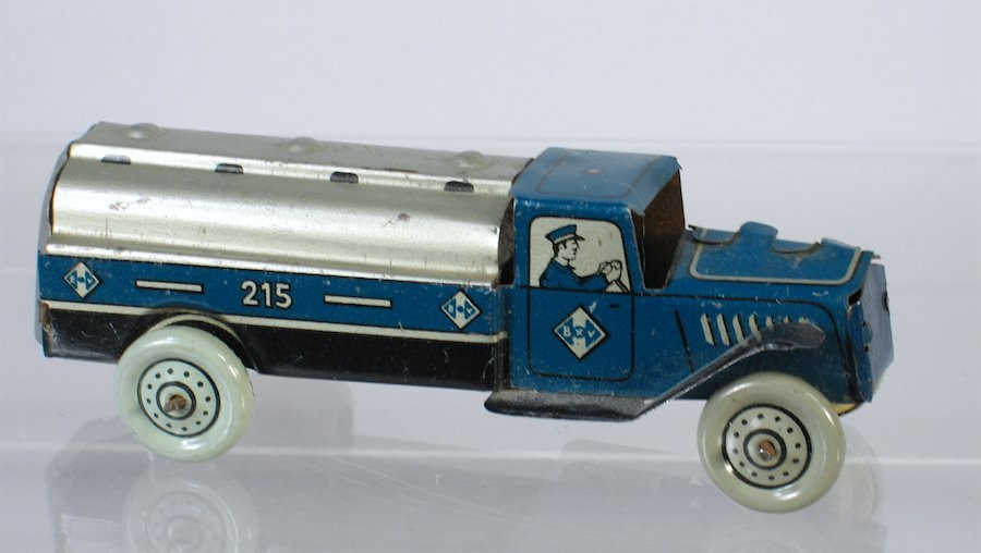 Kellermann German Tin Penny Toy Tanker Truck