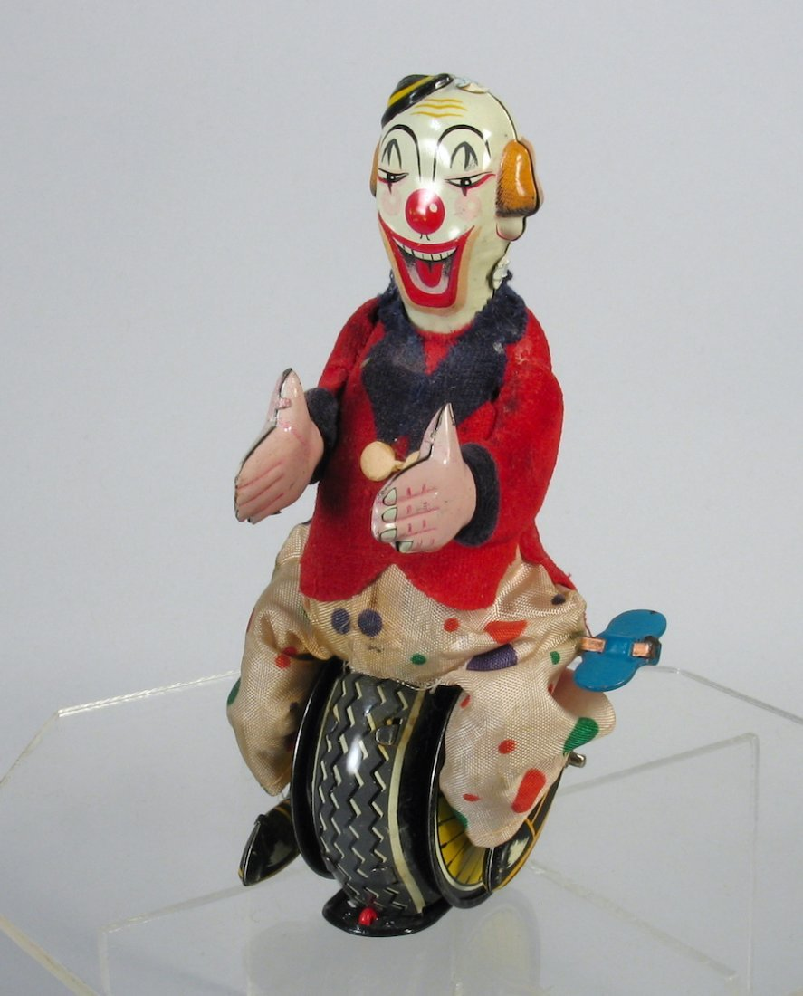 TPS Japan Tin Clown Balancing On Unicycle