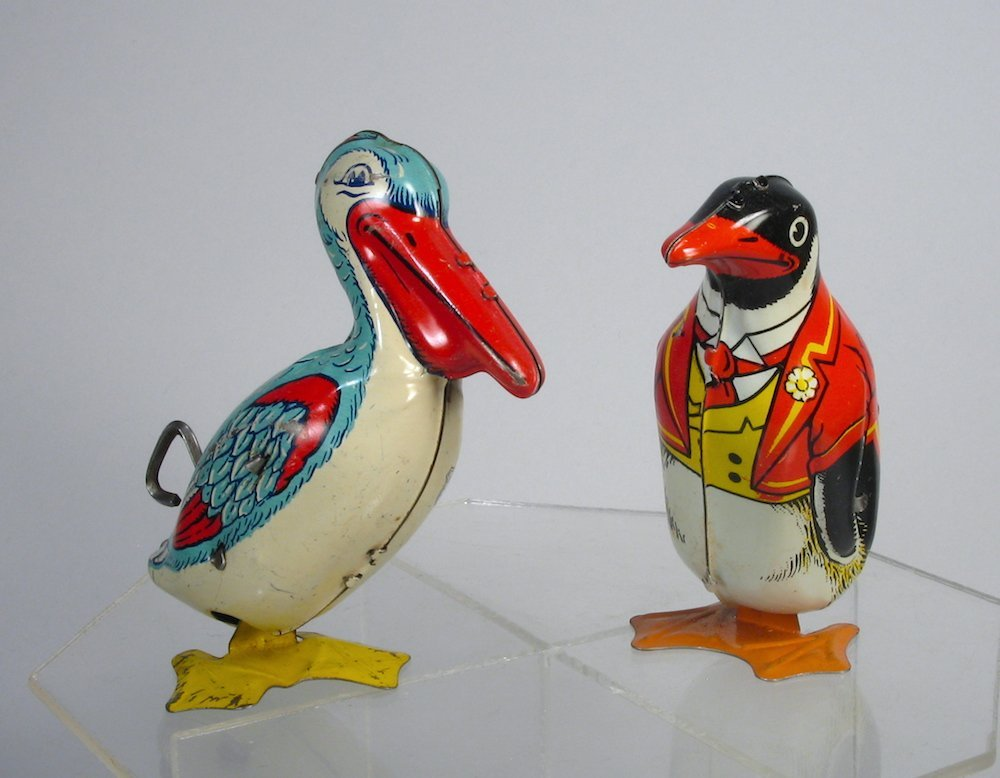 J. Chein Wind Up Stork and Penguin