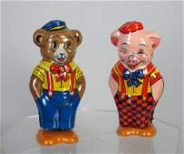 J Chein Tin Wind Up Pig and Bear