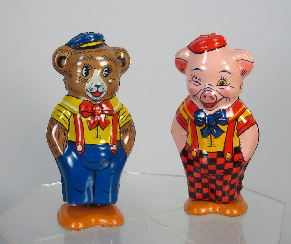 J. Chein Tin Wind Up Pig and Bear
