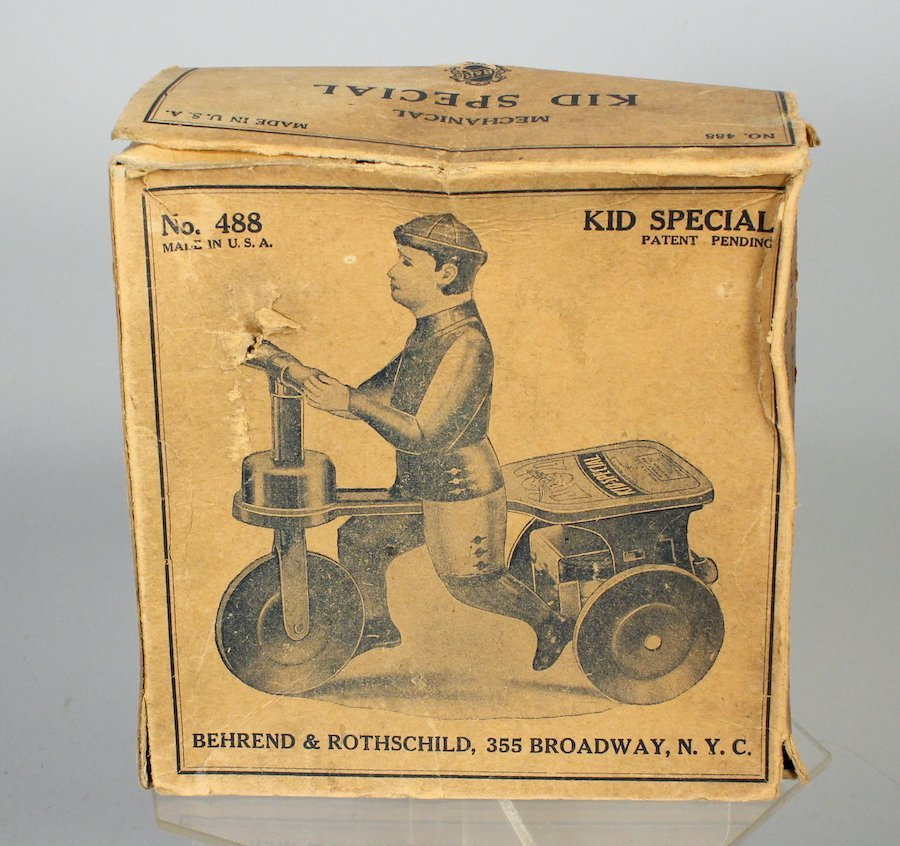 1920 B&R Kid Special Tin Scooter BOX
