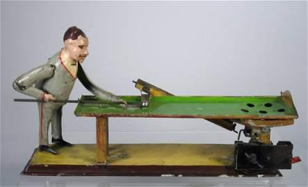 "Large Gunthermann Billiard Player Perelman Museum 12"""