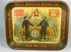 Philiadelphia Beer Drivers Union Beer Tray