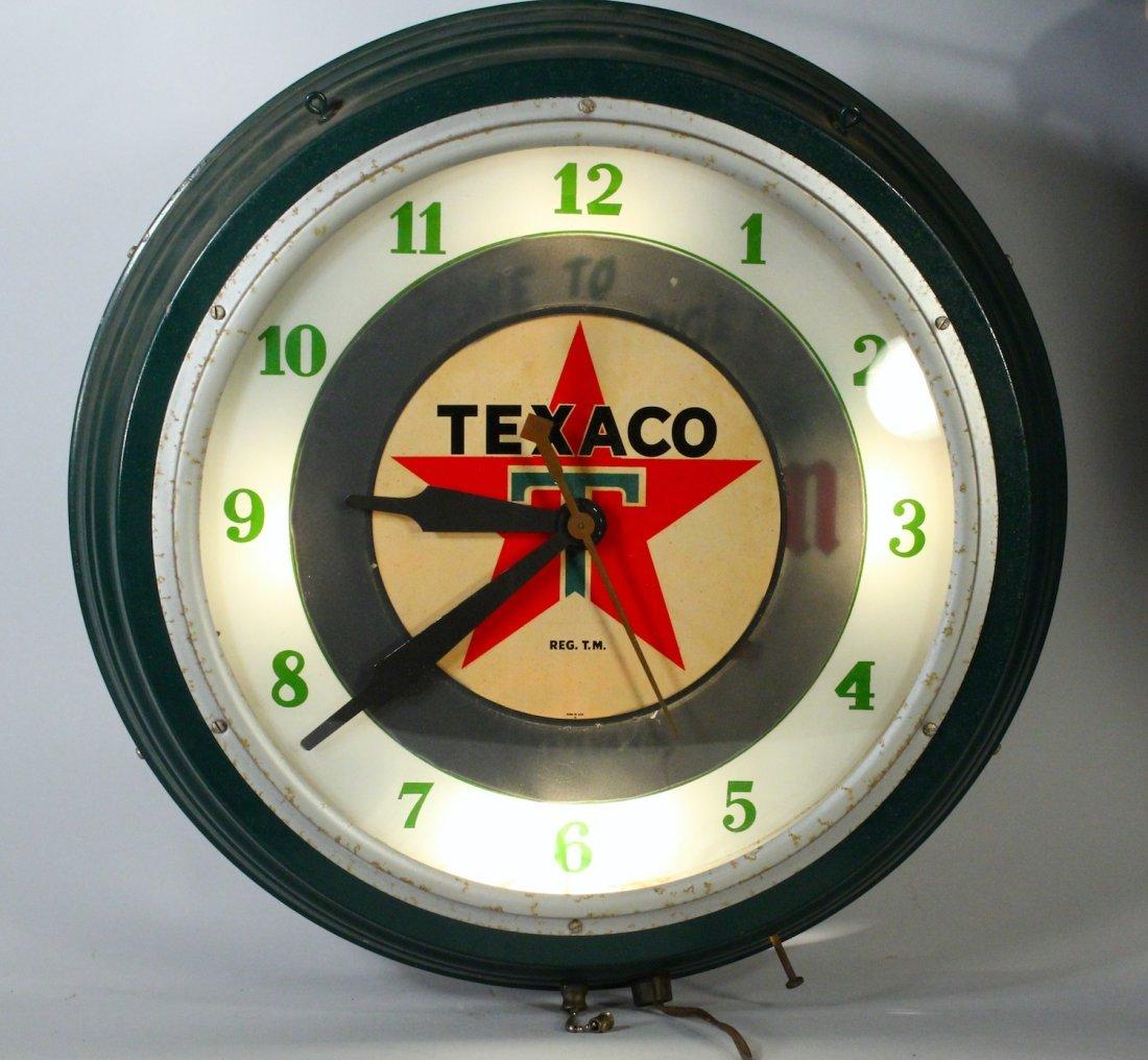 William Penn Oil & Texaco Gas Station Clock