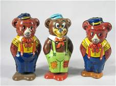 J Chein Wind Up Bear Lot Tin Litho