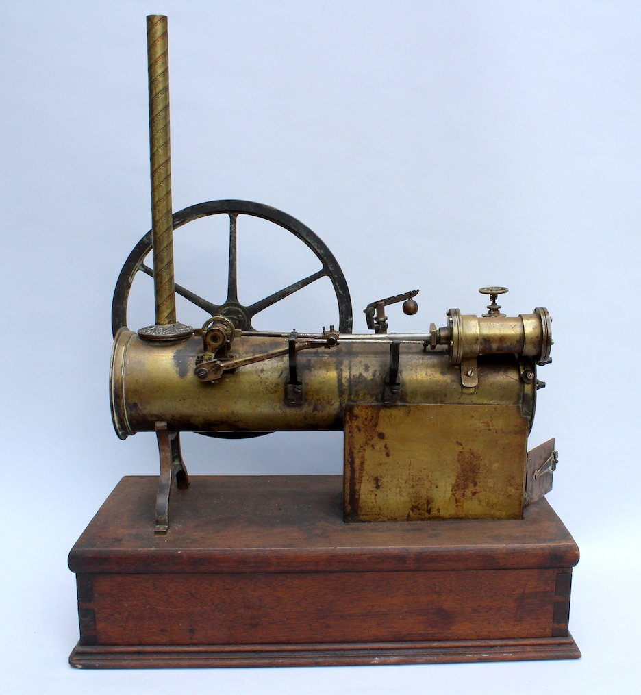 1900s Steam Engine Large Scale Model