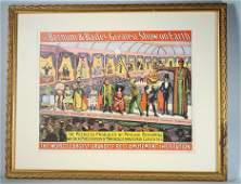 Barnum  Bailey Circus Hall Of Freaks Poster