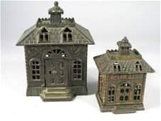 Cast Iron Still Bank Building Lot