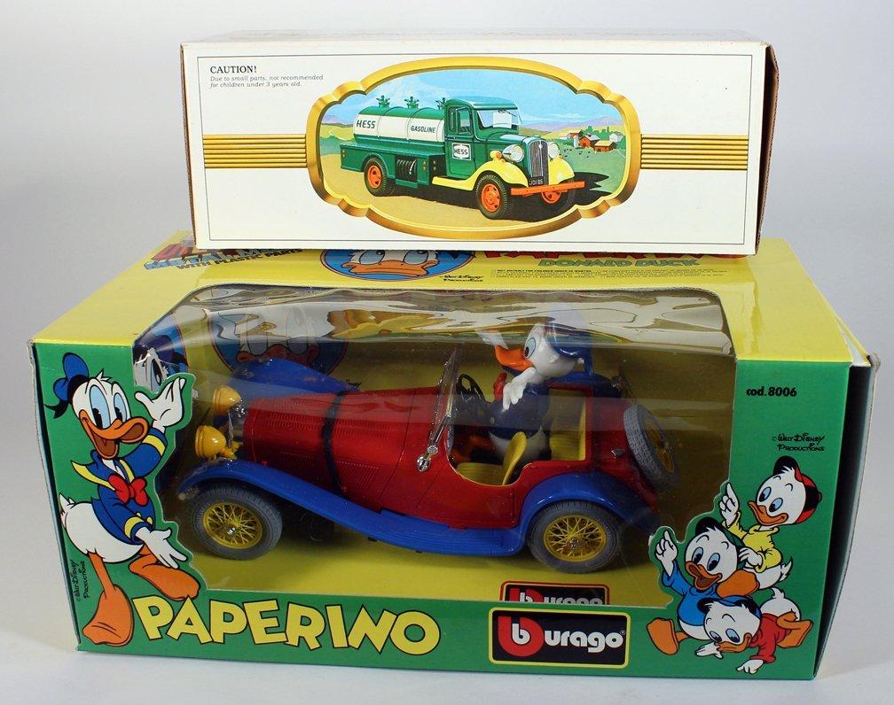 Walt Disney Car Donald Duck Open Tourer & Hess Truck