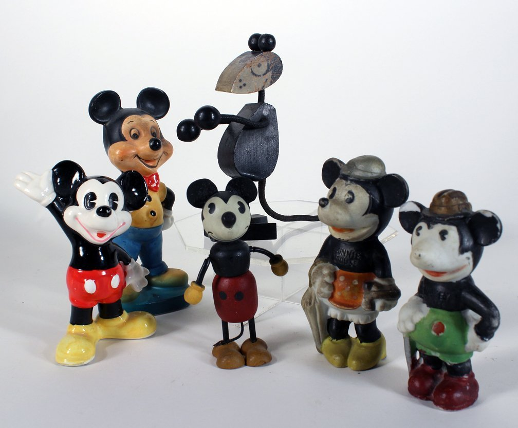 Vintage Mickey Mouse Bisque and Early Figures