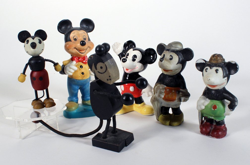 Vintage Mickey Mouse Bisque and Early Figures - 2