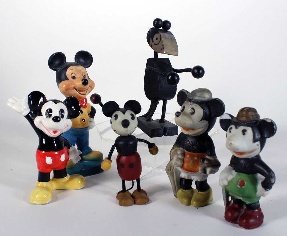 Vintage Mickey Mouse Bisque and Early Figures - 3