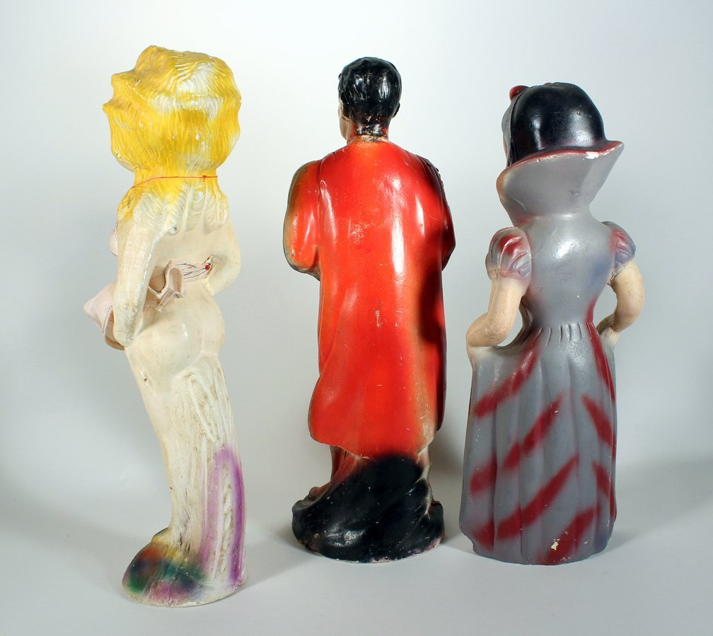 Chalkware Superman, Snow White, and Pin Up Girl - 2