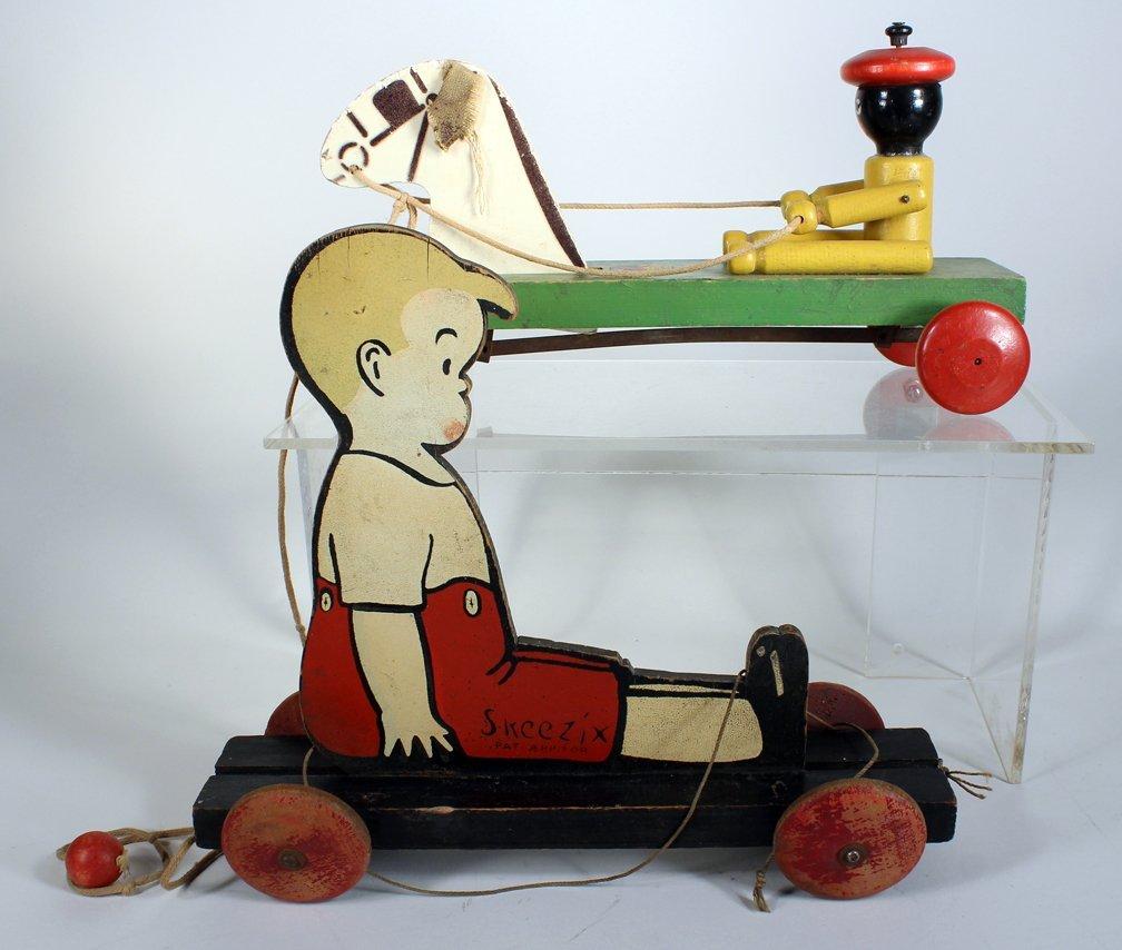 1920s Comic Figure Skeezix & Hustler Black Driver - 2